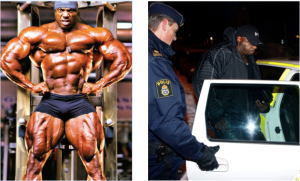 Picture 3. The photo on the left is Toney Freeman, and the one on the right is a picture of Freeman's arrest in Sweden.