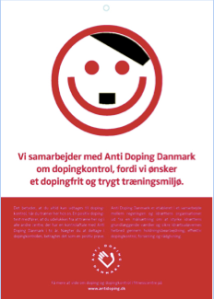 Picture 2. A parody on the 'smiley system' of Anti-Doping Denmark.